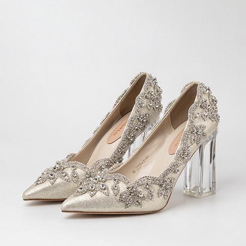 Satin Silk Square Heel Pumps In 2020 Clear Heels Wedding Shoes Bride Pumps Heels