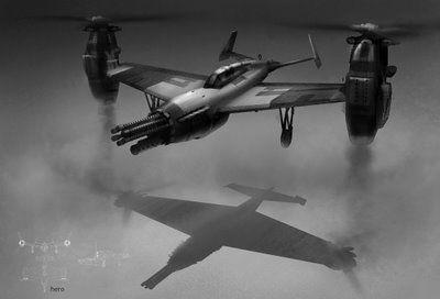 Art of Annis Naeem: WWII 1940'S VTOL aircrafts (empire + rebellion)