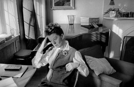 Henri Cartier-Bresson // USA, 1963 - . New York City. Australian composer, Peggy GLANVILLE-HICKS.