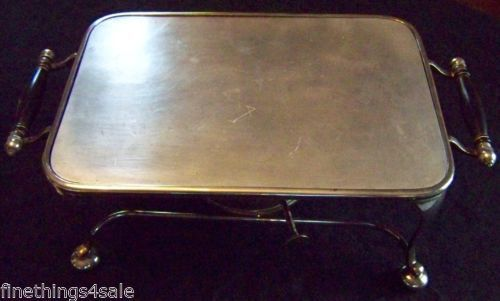 ENGLISH DECO SILVER HARRODS GRAND CHAFING WARMING TRAY SET Host / Collector Item