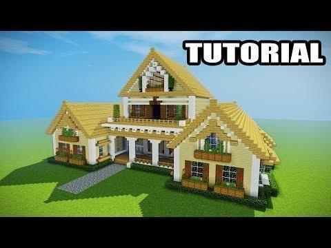 Epic Survival How To Build A Survival House Minecraft Mansion Minecraft Servers Web Minecraft Mansion Minecraft House Tutorials Minecraft House Designs