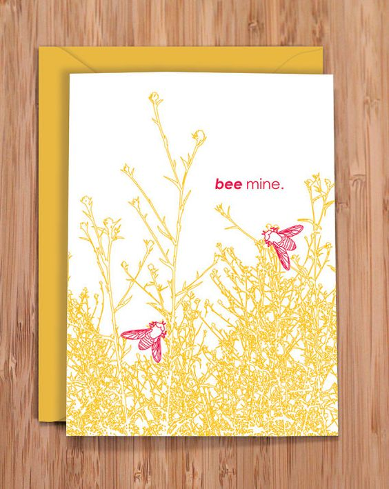 tarjeta de San Valentín / abeja mine