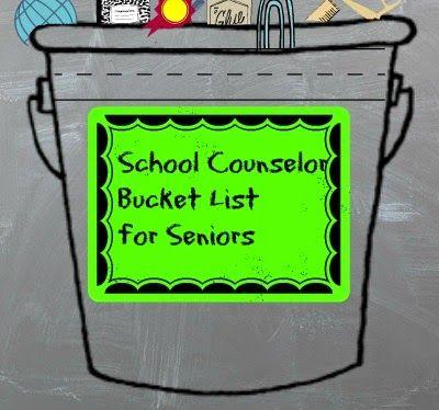 For High School Counselors: School Counselor Bucket List for High School Seniors