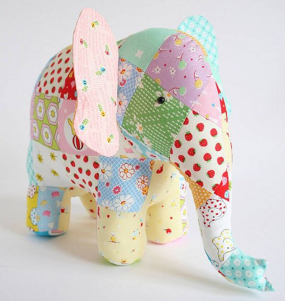 Elephant sewing pattern: