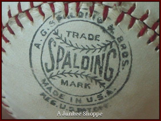 SPALDING 1915 Professional Baseball Horse Hide Number 3RC Rubber Center Junk 985  http://ajunkeeshoppe.blogspot.com/
