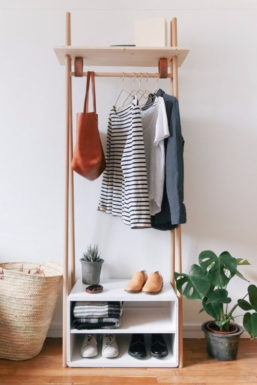 7 Pieces Of Furniture To Help You Create A Mini Mudroom Diy Clothes Rack Home Diy Organization Bedroom