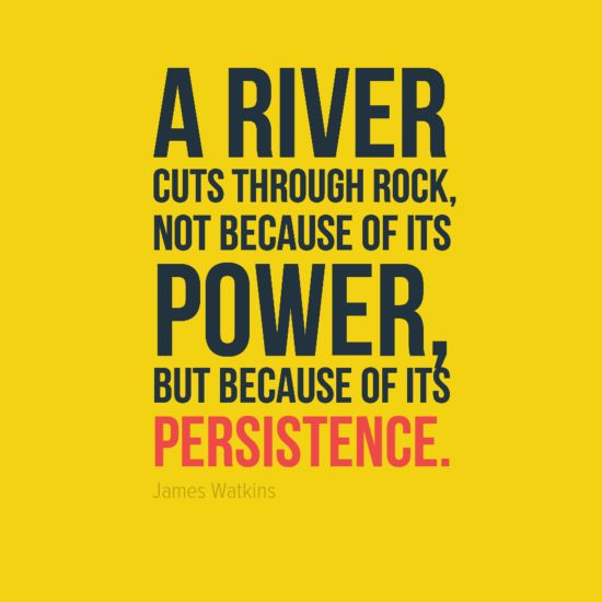 Be persistent and you can accomplish the impossible! -- Motivational Quotes: