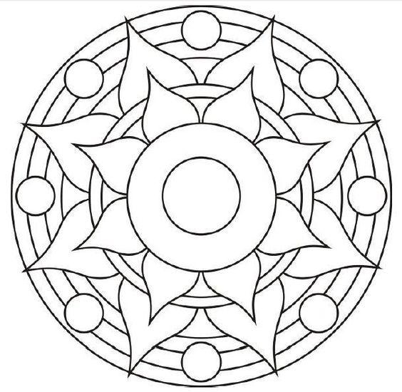 Mandalas De Proteccion Personal Para Colorear