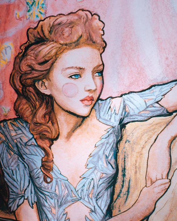 By Danny Roberts. Inspired by Model Lily Cole and Marchesa