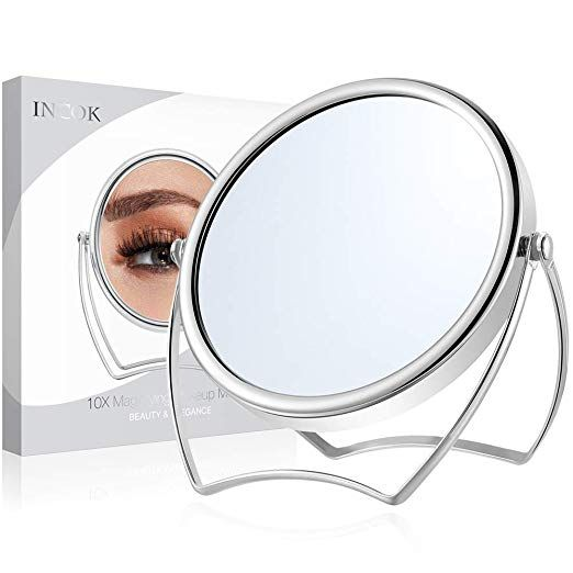10x 1x Double Sided Magnifying Makeup Mirror 5 Metal High