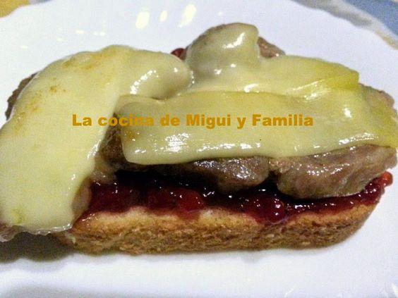 LA COCINA DE MIGUI Y FAMILIA: LONCHAS DE PAN CON  LOMO,MERMELADA DE DULCE DE PIM...