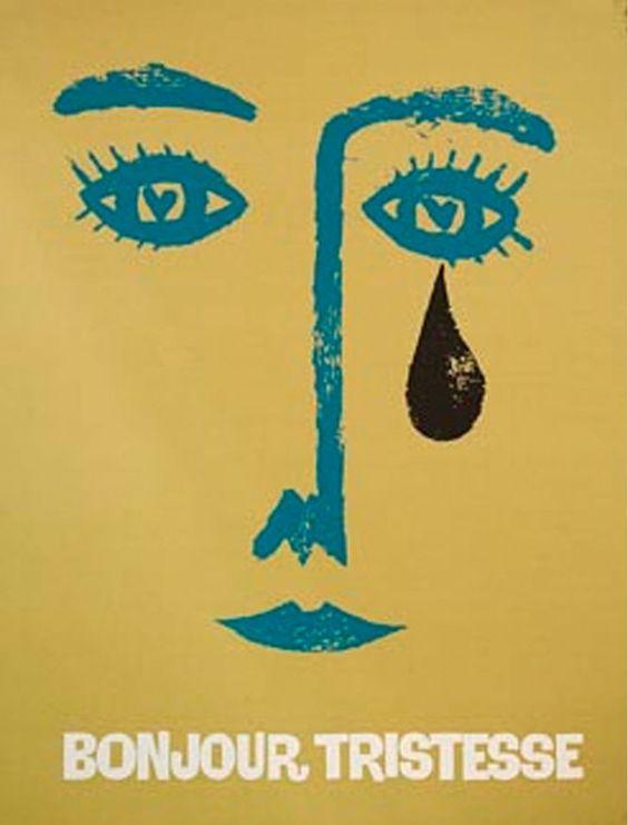 Carteles de las películas diseñados por Saul Bass. 'Bonjour tristesse'.