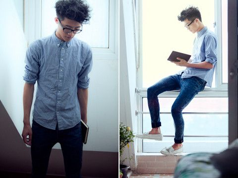 Noname White Deck Shoes, Topman Washed Stretch Skinny Jeans ...
