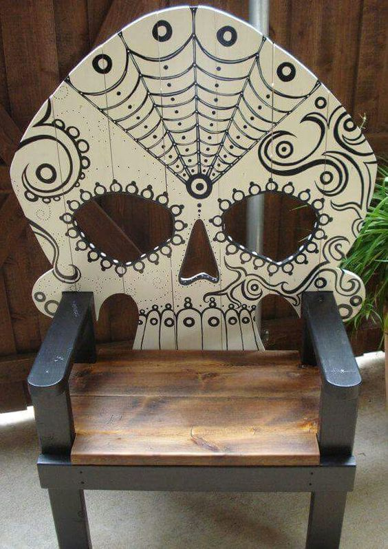 Sugar skull chair: