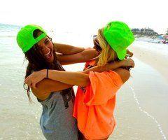 neon colors   & bestfriends