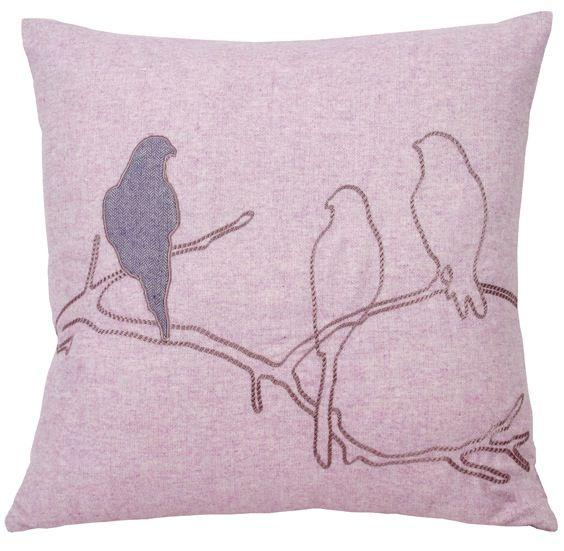 Purple Bird Pillow