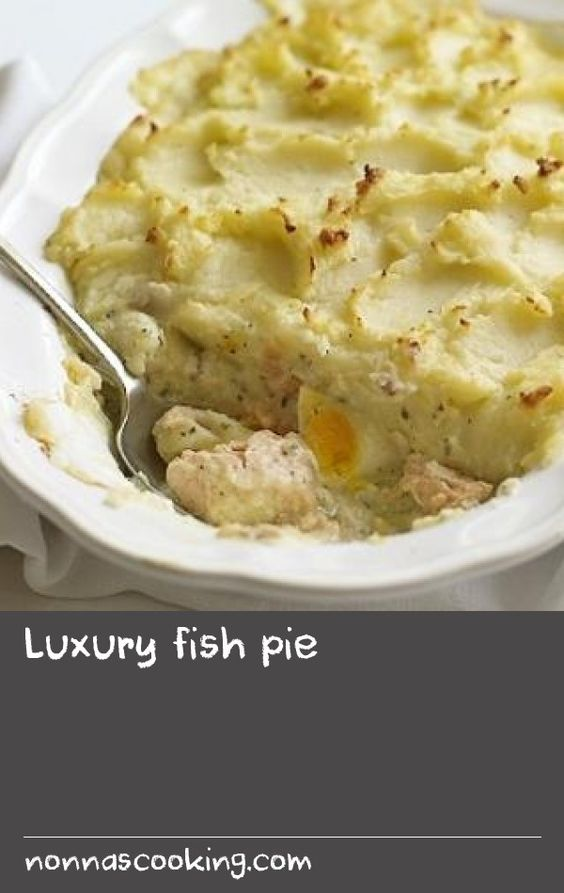 Luxury fish pie |      Fish pie is a real homecoming meal. James Martin's recipe is simple and satisfying, with salmon, hard-boiled eggs and a dash of cream.