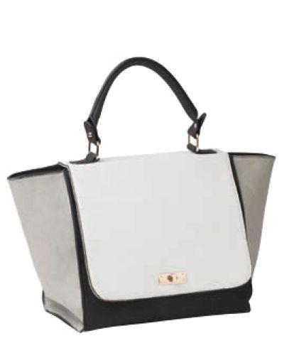 Sacs On Jenkins - Grey, black and white handbag by Miss Gabee, $99.00 (http://www.sacsonjenkins.com.au/grey-black-and-white-handbag-by-miss-gabee/)