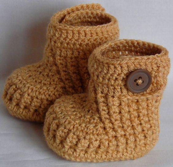 Sapatinho de Bebé, Crochet sapatas de bebê, bebé sapatos, botas do bebê, presente da festa do bebé, infantil Calçados, escolher a cor