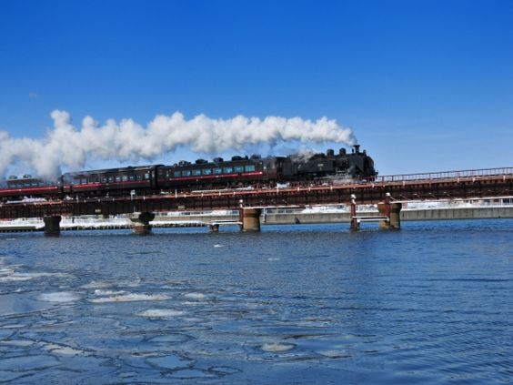 Steam locomotive in Hokkaido, Japan