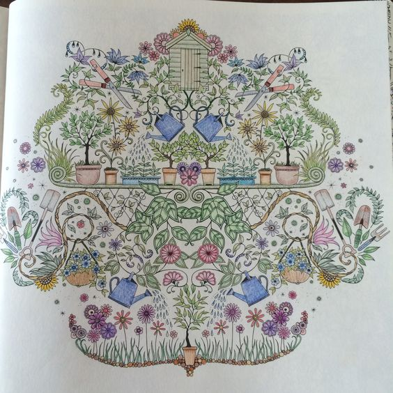 Inspiratie uit het kleurboek mijn geheime tuin kleuren for De geheime tuin boek