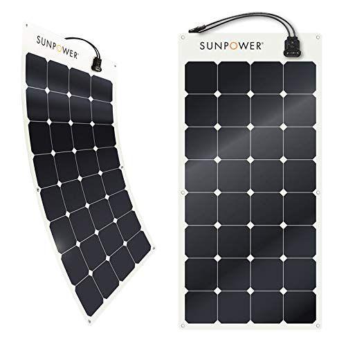 Amazon Com Sunpower 100 Watt Flexible Monocrystalline High Efficiency Solar Panel Gateway Solar Panels Flexible Solar Panels Mini Solar Panel
