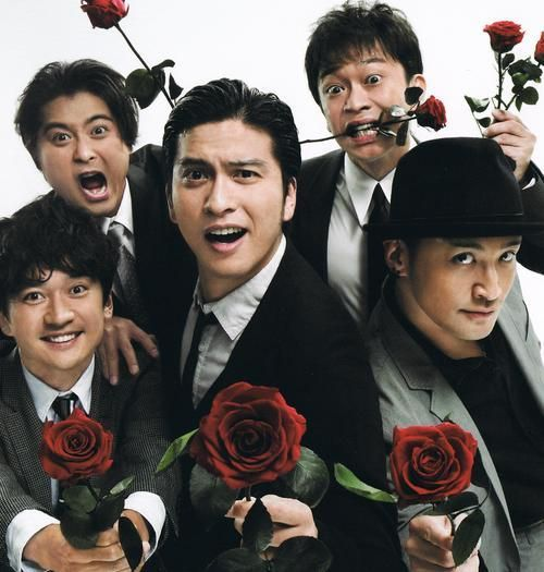 TOKIO薔薇を持ってかっこいい壁紙