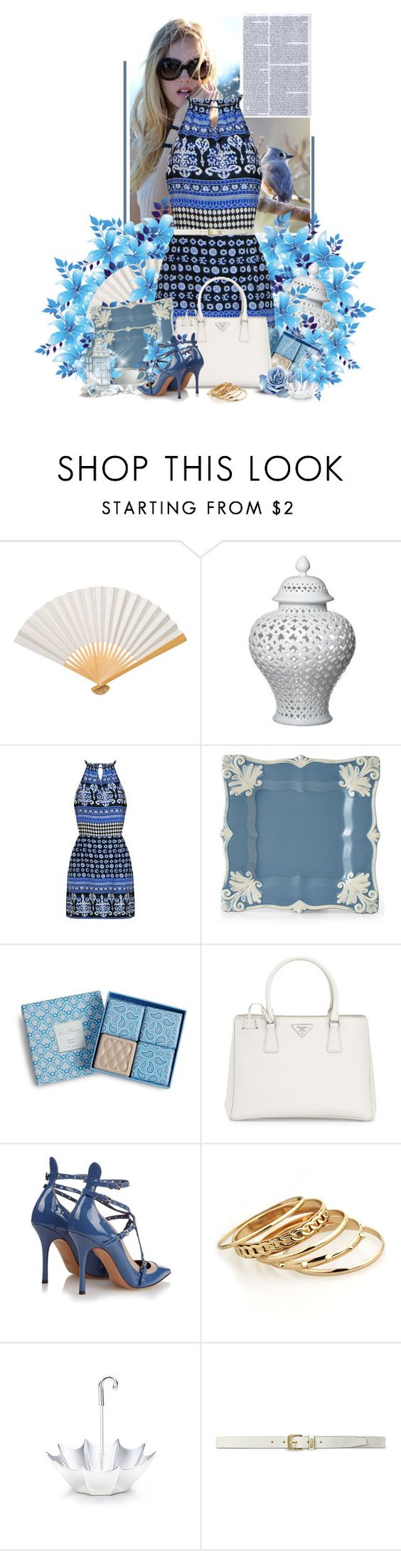 """""""ana"""" by ana-costa-queiroz ❤ liked on Polyvore featuring beauty, Cultural Intrigue, Elodie, Vera Bradley, Prada, Arte Italica, Valentino, Tiffany & Co. and Lauren Ralph Lauren"""