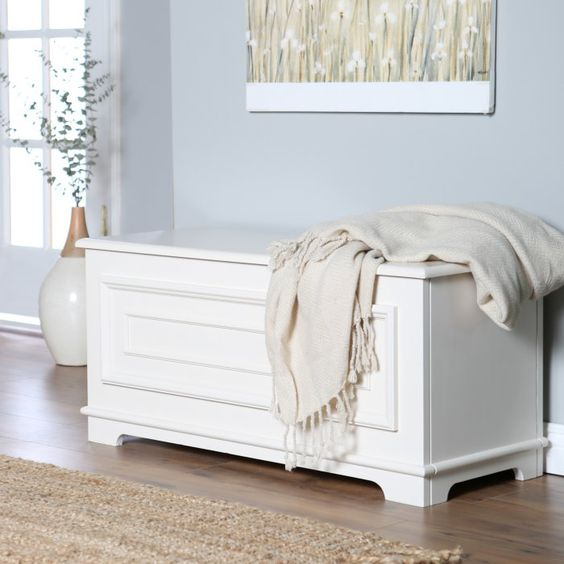 Belham Living Surveyor Cedar Chest - Antique Ivory | Hayneedle
