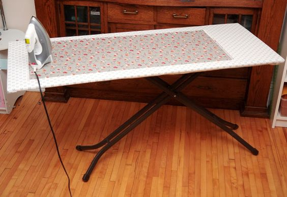 """A fewyears ago, I was getting really tired of ironing quilt tops with my regular ironing board. The kind with the tapered end is really not designed for quilters! I started googling things like """"big ironing board"""" and came across this one, called simply """"The Big Board"""". I liked the idea of something that"""