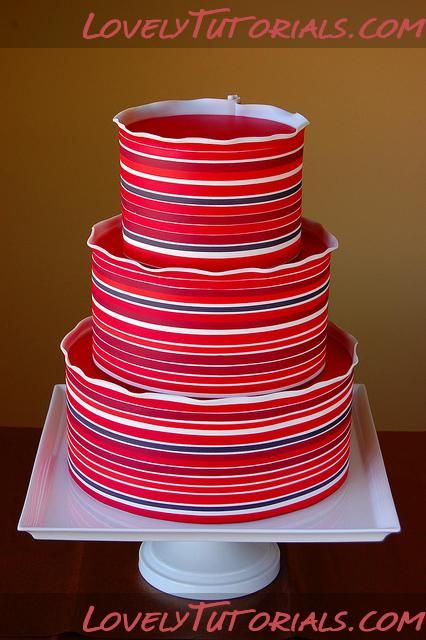 How To Decorate the Sides of a Cake with Horizontal Stripes