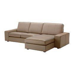 "KIVIK loveseat and chaise lounge, Grann beige Width: 110 1/4 "" Depth: 64 1/8 "" Height: 32 5/8 "" Width: 280 cm Depth: 163 cm Height: 83 cm"
