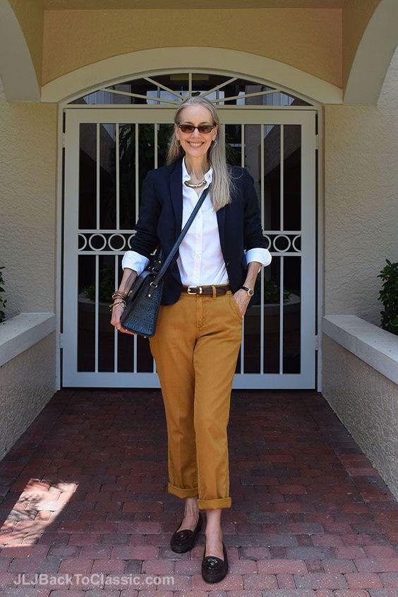 Blazer-JCrew-Chinos-Lands-End-Oxford-Kate-Spade-Bag-Sunglasses