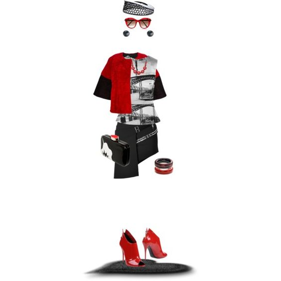 """Red Shoes"" by designsbytraci on Polyvore"