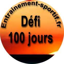Défi 100 jours consécutifs  de sport
