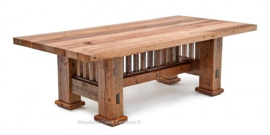 Exposed Mortise And Tenon Joints And Simple Vertical And