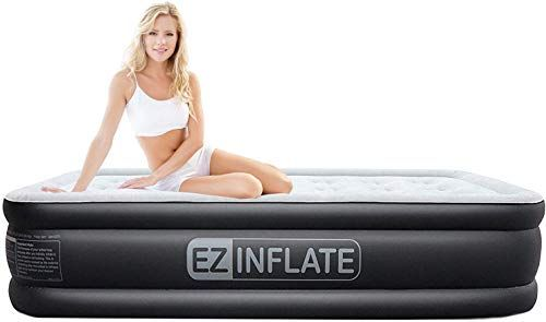 New Ez Inflate Upgraded Twin Air Mattress Built Pump Luxury Twin Airbed Inflatable Mattress Home Camping Travel Luxury Twin Size Blow Bed 2 Year Warranty On Twin Air Mattress Inflatable Mattress Air