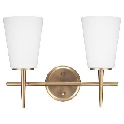 Sea Gull Lighting Driscoll Two Light Bath Vanity - Satin Bronze- shows more content