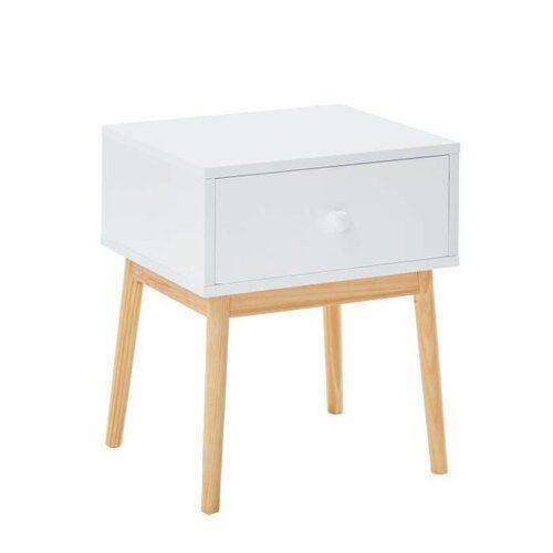 Isabelline Lesly 1 Drawer Bedside Table Lacquer Bedside Tables