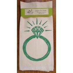 ArtGoodies Organic Block Print Ring Tea Towel