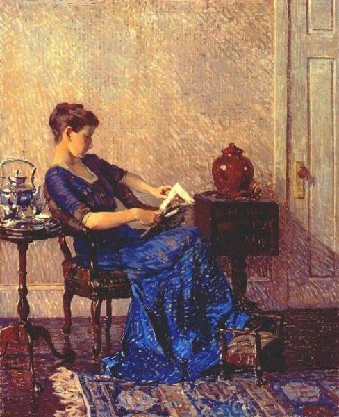 IMAGINA Y CREA: Woman in blue, paintings