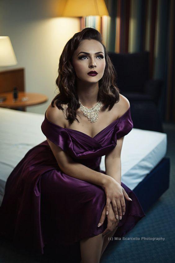 Purple Bridesmaid Dress Christmas Dress Vintage Wedding Dress Rockabilly Pin Up…