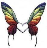 Butterfly Heart & Wings Tattoo