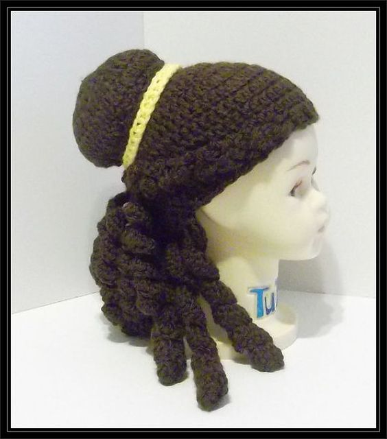 Crocheted Belle inspired Hat by ItsNotWeird on Etsy
