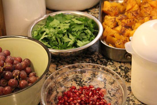 Middle Eastern Feast by Mrs. Wheelbarrow from Jeruselum (the cookbook)