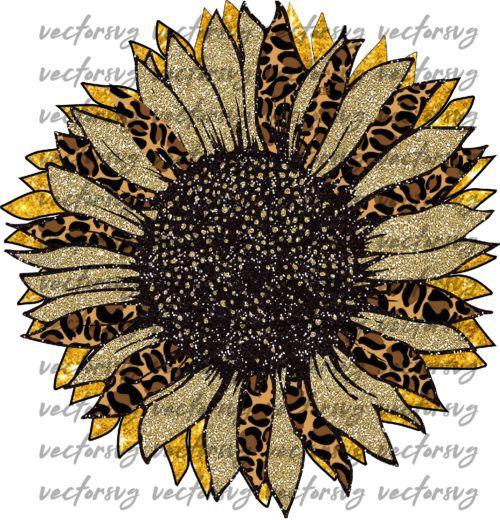 Leopard Sunflower Sublimation Sunflower Png Clip Art Digital Etsy Sunflower Png Clip Art Digital Clip Art