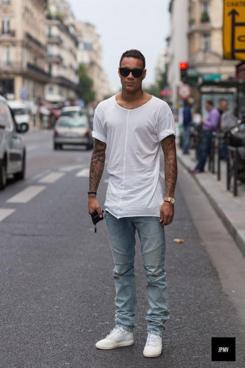 白Tシャツ海外メンズコーデMen's Casual Inspiration #5 Follow MenStyle1.com... | MenStyle1- Men's Style Blog