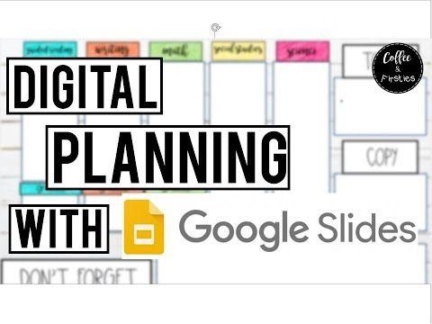 6 Digital Lesson Planning Using Google Slides How To Make Stickers Youtube Digital Lesson Plans Google Lessons Teacher Planning