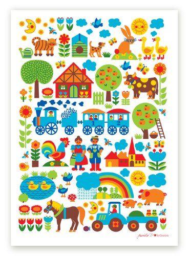 byGraziela Kinderzimmer-Poster: Bauernhof 50 x 70 cm Retro byGraziela http://www.amazon.de/dp/B009WRAFZW/ref=cm_sw_r_pi_dp_9cfKvb15MZGN4