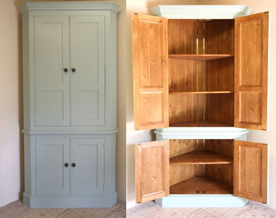 Freestanding kitchen corner pantry and kitchen unit on for Extra storage for small kitchen
